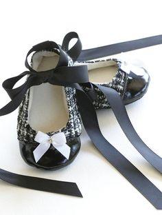 Chanel inspired ballet slippers for baby!