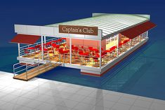 There are not enough well-found places where one can eat and relax seating in front of sea anywhere. Floating Café is an open floating court / platform with bar and kitchen in the middle. Provide o…