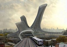 Urban Alloy Towers are the future vision of AMLGM where we're going to live. Dynamic cities of the 21st century, something like New York, are anthropomorphic alloys that act as the center for innovation and social cohesion.