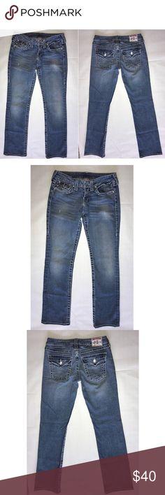 Women's True Religion Jeans Women's True Religion Brand Jeans size 27. Inseam is about 29'. 99% Cotton, 1% Elastane. Great Condition  RN# 112790 CA# 30427 True Religion Jeans