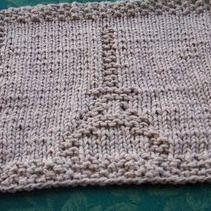 Free Knitting Pattern - Dishclothes & Washcloths : Eiffel Tower Cloth