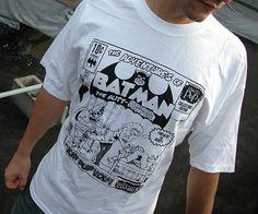 Mucky Pup Tshirt Batman Logo by muckychris on Etsy Batman Shirt, Batman Logo, Pup, Band, Trending Outfits, Logos, Anime, Mens Tops, T Shirt