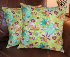 Throw Pillow Cover  16x16 Set of 2 sewn with by PersnicketyHome, $26.00