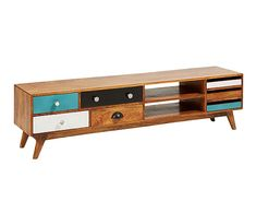 Mueble para TV de madera de mango y DM Retro