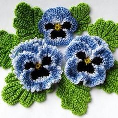Irish crochet flower pattern pdf pansy photo tutorial spring flower bouquet applique or brooch Crochet pansies tutorial watch the video now – Artofit Could be a nice corsage with soft scarf – Artofit Crochet the Giant Rose Step by crochet 3 d flower w Crochet Puff Flower, Crochet Dollies, Crochet Flower Patterns, Crochet Motif, Irish Crochet, Crochet Flowers, Crochet Ideas, Bolero Crochet, Crochet Flower Tutorial