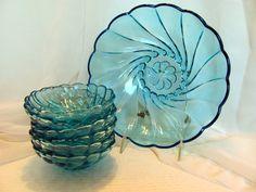 Blue Berry Bowl Set by Hazel Atlas / Hazel by VintageLoversShop