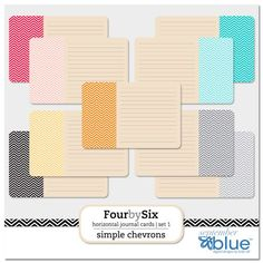 september blue. She has 4x6 journaling cards in horizontal & vertical. Also in different color palettes to match the sets! Score!
