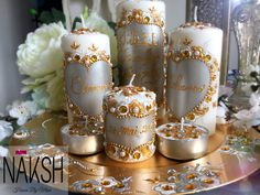 Personalized candles for wedding..