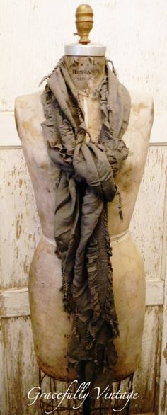 Scarves are a Perfect Accent-Gift-  Available at Gracefully Vintage