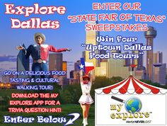 Enter our 'State Fair of Texas' Sweepstakes at http://www.facebook.com/MyExplore/app_403359706360567