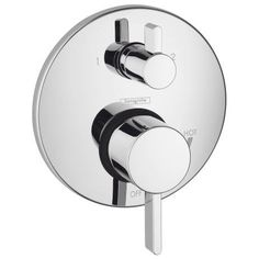 Buy the Hansgrohe 04231000 Chrome Direct. Shop for the Hansgrohe 04231000 Chrome Ecostat Thermostatic Valve Trim with Integrated Diverter and Volume Controls - Less Valve and save. Shower Valve, Shower Faucet, Shower Tub, Shower Heads, Shower Kits, Shower Diverter, Shower Hose, Bath Tub, Shower Doors