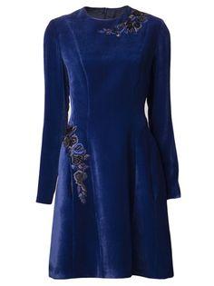 ALBERTA FERRETTI Embroidered Shift Dress