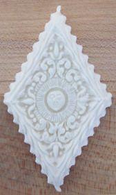 Cookie made with Diamond Sun mold #1804