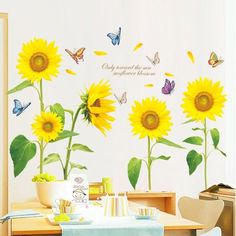 Sunflowers Wall Decals – the treasure thrift
