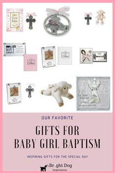 Our collection of favorite christening and baptism gifts ideas for baby girls. (great for grandkids too!)