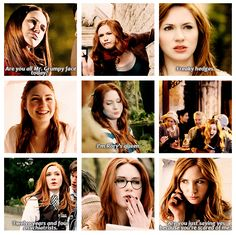 Amy Pond. THE best companion ever. When you include Rory with her! I want to copy her makeup. She really rocks the pale skin!