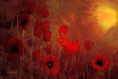 'Poppy heaven ' Poster by Valerie Anne Kelly Heaven Painting, Fine Art America, Supernatural, Wall Art, Nature, Prints, Red, Poster, Poppies Art