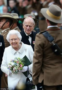 The Queen and Duke of Edinburgh at the evening of celebrations to mark two centuries of Gu...