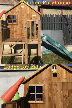 This wooden play equipment for outdoor games and activities is an ideal present for kids. The raised Wooden Playhouse with Slide from Dunster House is an Outdoor Lodge for children, their own little house where they can have fun. Wooden Playhouse With Slide, Kids Slide, Play Equipment, Presents For Kids, Outdoor Games, Play Houses, Kids Toys, Have Fun, Activities
