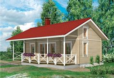 Nalle 40C parvella Guest Cabin, Catalogue, Tiny House, Shed, Cottage, Outdoor Structures, House Styles, Home Decor, Summer