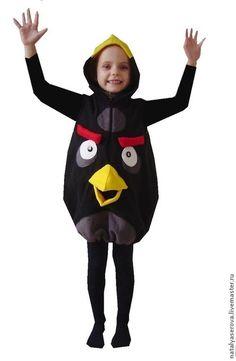 """Птичка """"Энгри Бердз"""" - чёрный,рисунок,энгри бердз,птичка,костюм энгри бердз"""