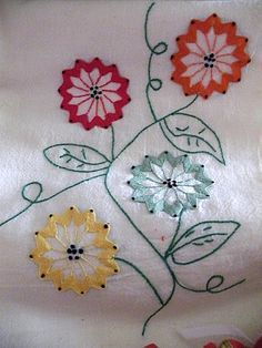 Ric-Rac Flower Dish Towels by beebers31.