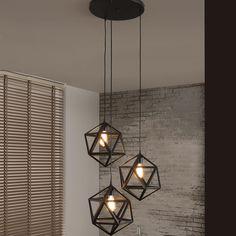 Hanglamp 'Sia' 3-lamps