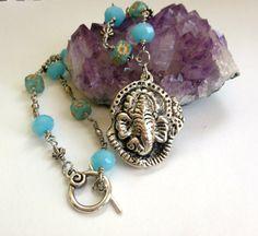 Ganesha Necklace Spiritual Jewelry Wire by WiredRedheadJewelry