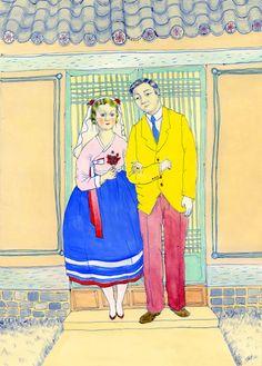 Wedding(old)_lr Illustrators, Wedding, Painting, Art, Valentines Day Weddings, Art Background, Painting Art, Kunst, Illustrator