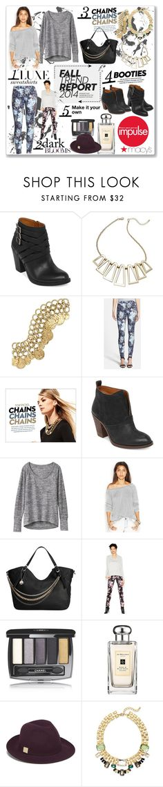 """""""Fall Wardrobe Upgrade with Macy's: Contest Entry"""" by coeurdcoeurs7 ❤ liked on Polyvore featuring Lucky Brand, Bar III, 7 For All Mankind, Athleta, Free People, Big Buddha, Chanel, Jo Malone, French Connection and contemporary"""