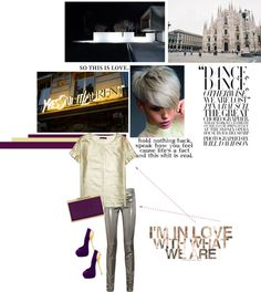 """""""Metallic"""" by s-thinks ❤ liked on Polyvore"""