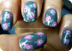 Abstract floral nail art inspired by Wondrously Polished