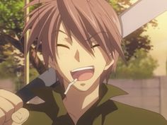 Clannad- Akio, Nagisa's father. Pretty much the funniest person in the show. I wish I knew someone like him haha