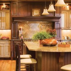 Mix it up with an enticing blend of wood species and finishes to create an appetizing visual menu. Large spaces can be daunting but with a little color ingenuity, the effect is delicious.