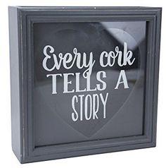 Boston Warehouse Every Cork Tells a Story 10 x 10-Inch Wine Cork Shadow Box Holder