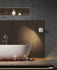 Designpaneele » individuelle Wandgestaltung für Bad und Küche #designpaneele #wandgestaltung #tapetewargestern #SIBU #SONNHAUS Sibu, Bad, Banners, Bathtub, Bathroom, Design, Wall Cladding, Wall Design, Wallpaper