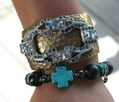 Relics Cuff and Turquoise Maltese Cross