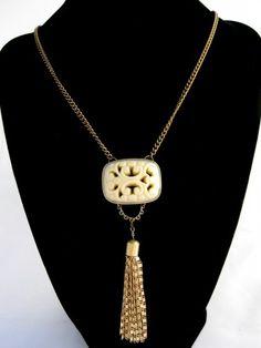 Reclaimed Tassel Necklace