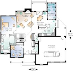 European House Plan chp-17431 at COOLhouseplans.com