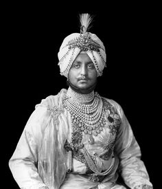 Maharaja Bhupinder Singh (1891-1938) of Patiala, India. He married at least 10 times & had many consorts. He  had 88 children. Of the 10 wives the most notable were 4 sister princesses of a Himalayan kingdom who were his favorites. Bakhtawar Kaur Sahiba (1892–1960), however, took part in official ceremonies as the Maharani & she gave Queen Mary a magnificent necklace on behalf of the Ladies of India during the Delhi Durbar of 1911 to mark the 1st visit to India by a Queen Empress.