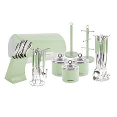 Morphy Richards 21 Piece Kitchen Set In Sage Green
