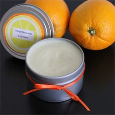 Orange Scented Hand Moisturizer and Lip Balm    This lightly scented orange moisturizer is the perfect solution for dry lips and hardworking hands. The Shea butter and cocoa butter blend to form a creamy ointment that soothes the skin. It is easy to make and serves as a welcomed gift for friends throughout the winter season.