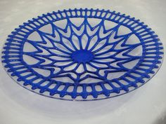 Large fused glass plate by MutziDesigns on Etsy