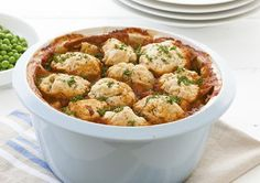 Free beef casserole with dumplings recipe. Try this free, quick and easy beef… Beef Casserole With Dumplings, Stew And Dumplings, Beef Recipes, Cooking Recipes, Healthy Recipes, Yummy Recipes, Delicious Desserts, Healthy Food, Recipies