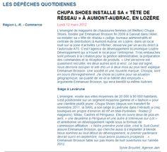 La lettre M - Chupa Shoes - 2012