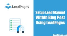 57% conversion with offering Lead Magnet within blog post. Copy my idea of how I Used LeadPages to offer Lead magnet & got 54 hyper-targeted email subscribers.