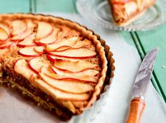 I have been looking for a good Almond tart recipe and I love apples too-can't wait to try it.