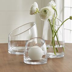 Slant Glass Vessels |