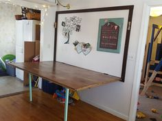 47 Fabulous Folding Wall Table Ideas That Saving Space With many different types and styles of folding poker tables on the market, which should you choose? This article helps … Wall Table Diy, Hinged Table, Wall Mounted Folding Table, Folding Walls, Folding Furniture, Wall Desk, Furniture Ideas, Wall Mounted Table Kitchen, Ikea Folding Table