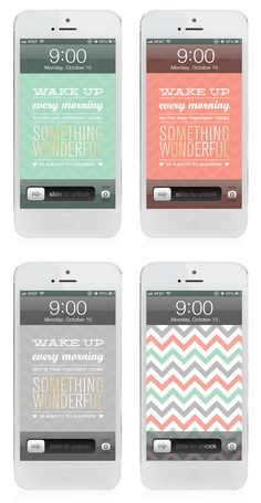 Inspiring quotes + free phone wallpapers every Monday on the blog!